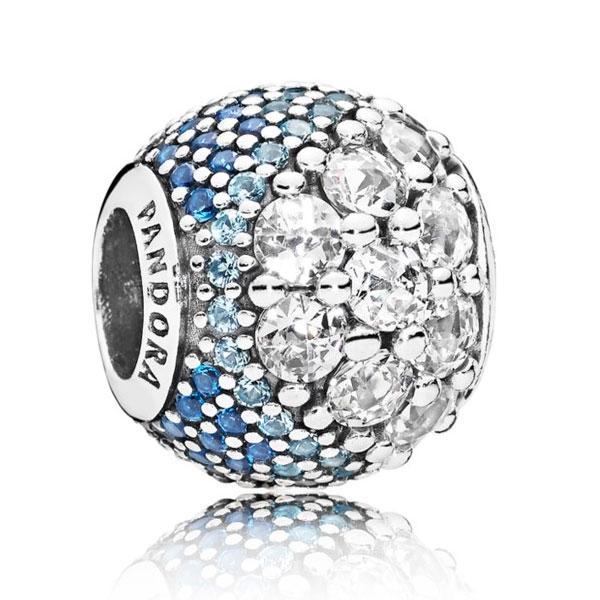 Пандора Шарм «Магия сияющего синего паве» Pandora 797032NABMX