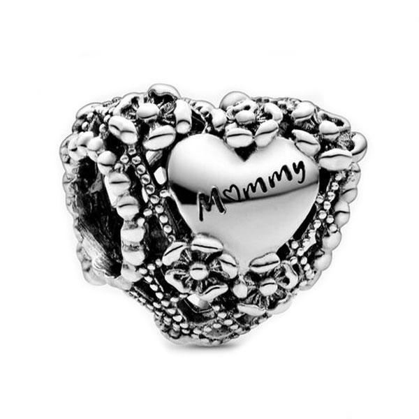 Пандора Шарм Ажурный цветок Сердце Матери Pandora 798892C00