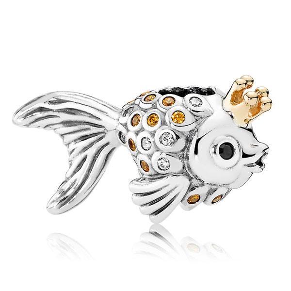 Пандора Шарм Золотая рыбка Позолота Pandora 792014CCZ_p