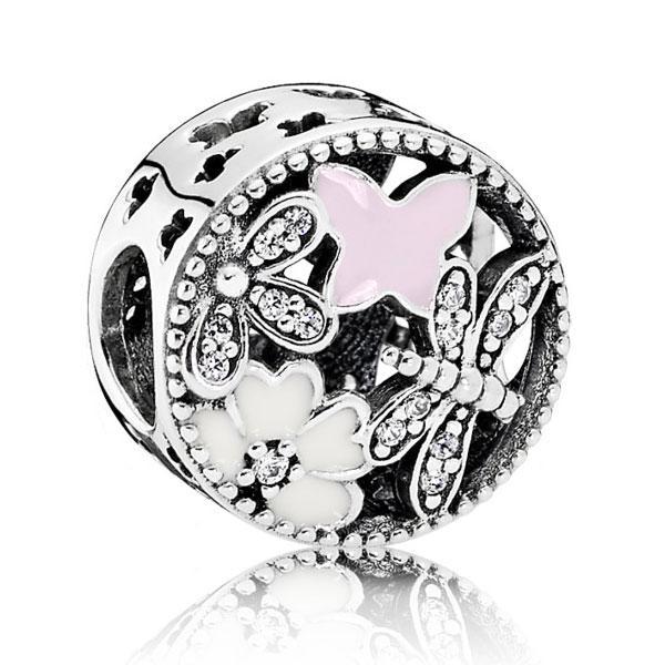 Пандора Шарм из серебра Цветочное настроение Pandora 791842ENMX