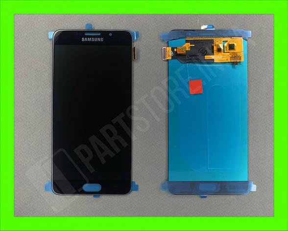 Дисплей модуль Samsung SM A710 OLED A7 Black 2016, фото 2