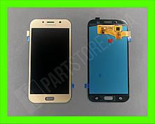 Дисплей модуль Samsung SM A720 OLED A7 Gold 2017