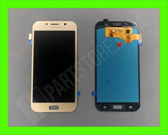 Дисплей модуль Samsung SM A720 OLED A7 Gold 2017, фото 2
