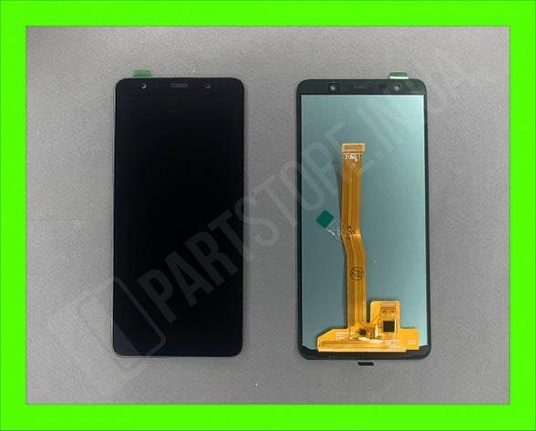 Дисплей модуль Samsung SM A750 OLED A7 Black 2018, фото 2