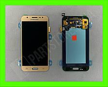 Дисплей модуль Samsung SM J500 OLED J5 Gold 2015
