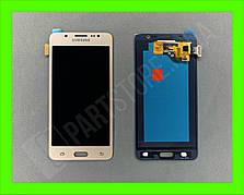 Дисплей модуль Samsung SM J510 OLED J5 Gold 2016