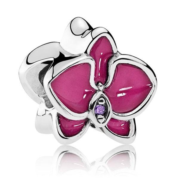 Пандора Шарм Орхидея Фиолетовая Pandora 792074EN69