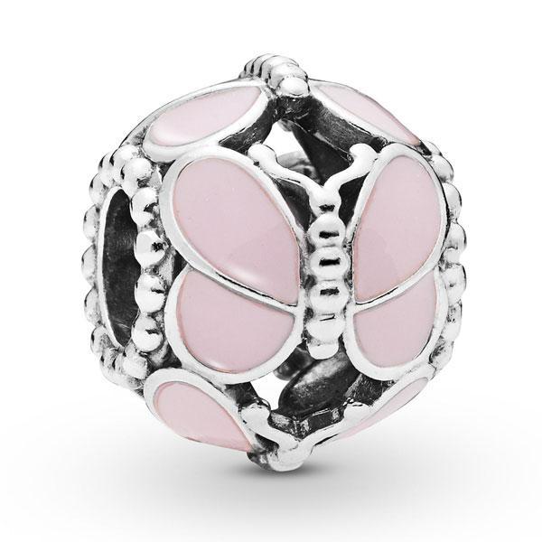 Пандора Шарм Розовые бабочки Pandora 797855EN160