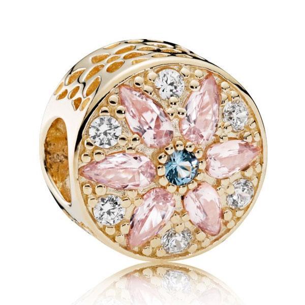 Пандора Шарм Роскошное цветочное очарование Позолота Pandora 751003NBP_p