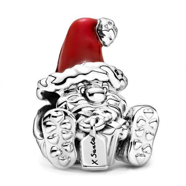 Пандора Шарм Санта-Клаус с подарком Pandora 799213C01