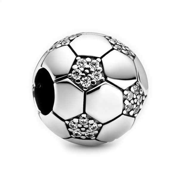 Пандора Шарм Сверкающий футбольный мяч Pandora 798795C01