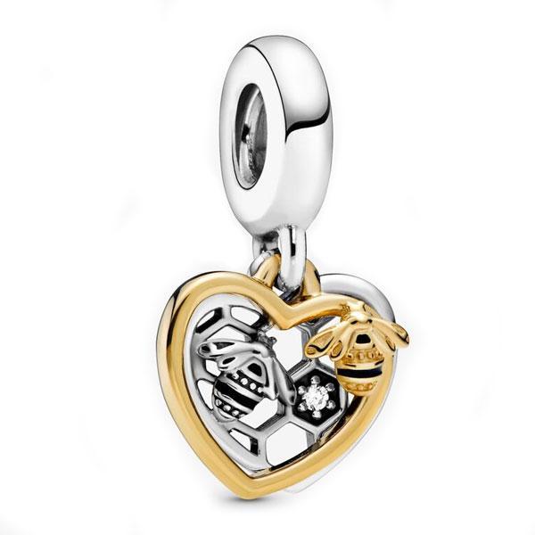 Пандора Шарм Сердце и Пчелы Shine Pandora 768838C01
