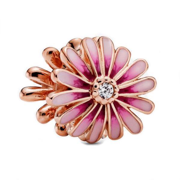 Пандора Шарм Цветок розовая Маргаритка Pandora 788775C01