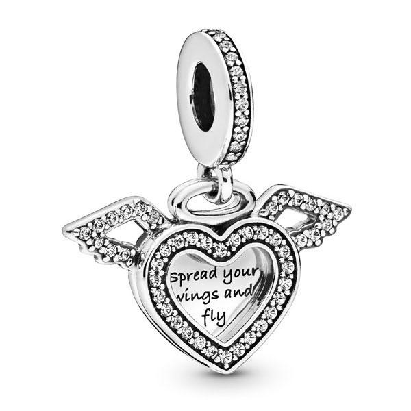 Пандора Шарм-подвеска Сердце и крылья ангела Pandora 798485C01