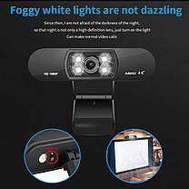 Веб камера ASHU H800 со встроенным микрофоном USB 2.0 1080P для видео звонков, фото 3