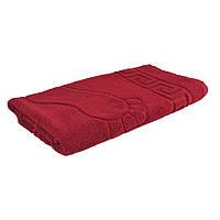 Махровое полотенце для ног GM Textile 50х70см 700г/м2 (Бордовый)