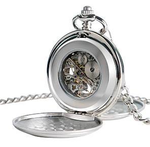 Карманные мужские часы механика две крышки, фото 2