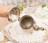 Посеребренный английский заварочный чайник на ножках, серебрение, мельхиор, Англия, 1,2 литра, фото 7