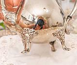 Посеребренный английский заварочный чайник на ножках, серебрение, мельхиор, Англия, 1,2 литра, фото 9