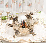 Посеребренный английский заварочный чайник на ножках, серебрение, мельхиор, Англия, 1,2 литра, фото 10