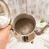 Посеребренный английский заварочный чайник на ножках, серебрение, мельхиор, Англия, 1,2 литра, фото 8