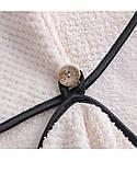 Рушник-чалма для сушіння волосся Кораловий оксамит. Капучіно, фото 3