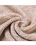 Рушник-чалма для сушіння волосся Кораловий оксамит. Капучіно, фото 6
