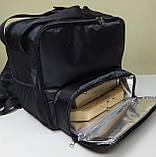 Рюкзак, термосумка для доставки їжі з відділенням для коробок на піцу 32*32 см, фото 6