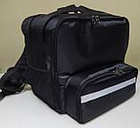 Рюкзак, термосумка для доставки їжі з відділенням для коробок на піцу 32*32 см, фото 7