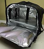 Рюкзак, термосумка для доставки їжі з відділенням для коробок на піцу 32*32 см, фото 8