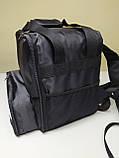 Рюкзак, термосумка для доставки їжі з відділенням для коробок на піцу 32*32 см, фото 9