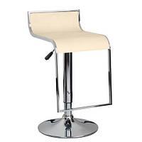Высокий барный стул Ж8, кожзам бежевого цвета