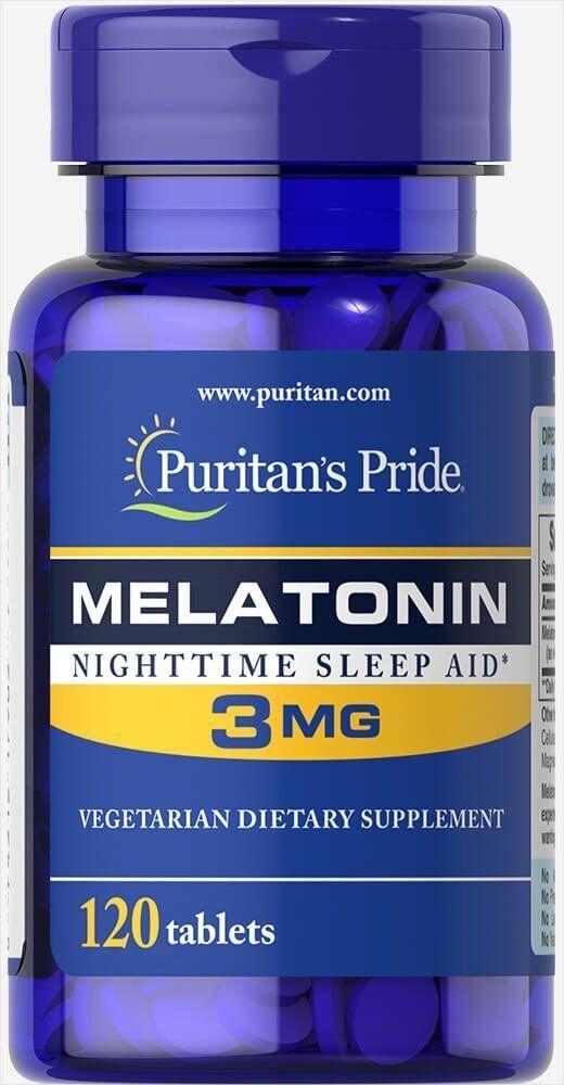 Мелатонин 3 mg, 120 таб Puritan's Pride США - фото 1