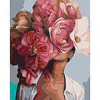 "Набор, картина по номерам ""Цветущая красота"", 40*50 см., SANTI"