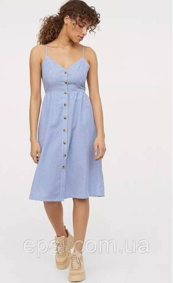 Платье HM 40 бело-синий в полоску 7420909RP3