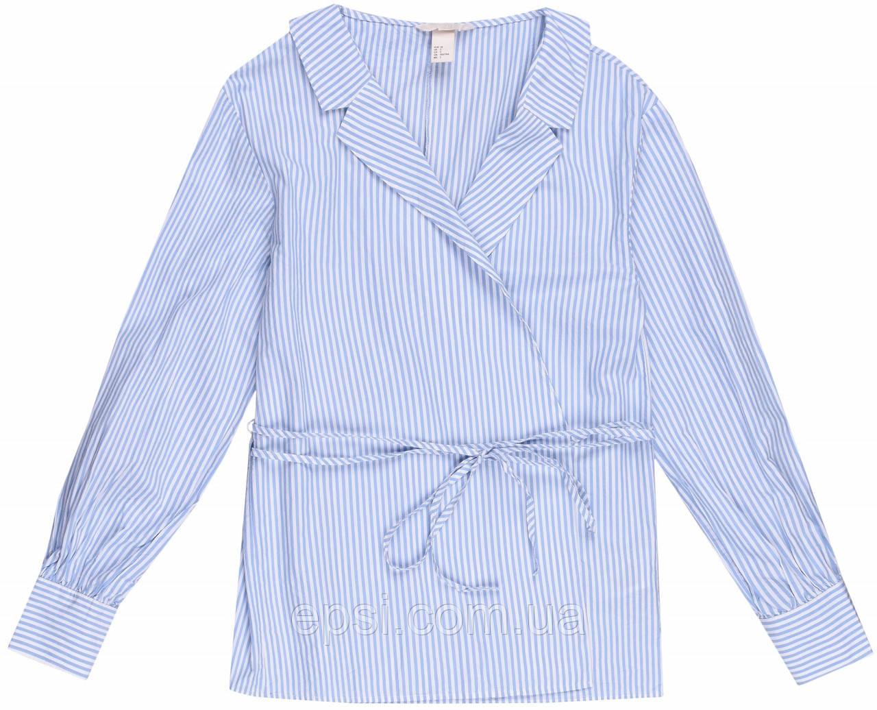 Блуза HM 32 бело-голубой в полоску 6392037RP3