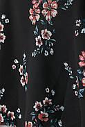 Блуза HM 32 черный цветы 6829369RP3, фото 2