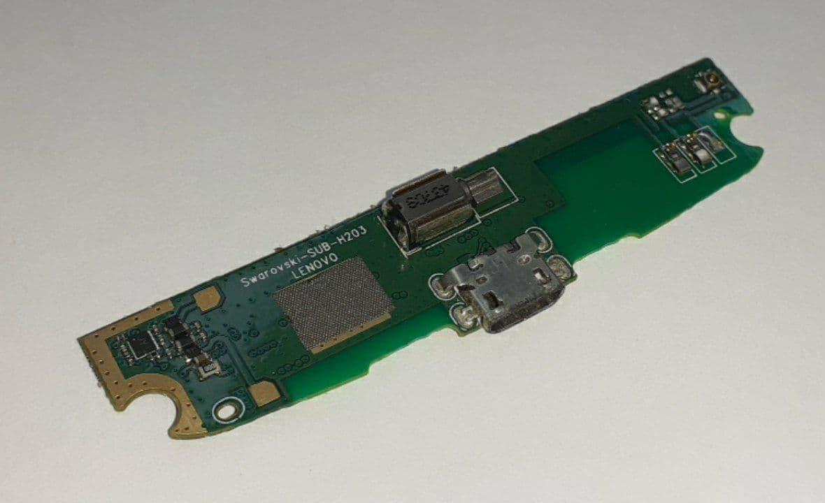 Субплата с разъемом зарядки Lenovo S820 оригинал б.у