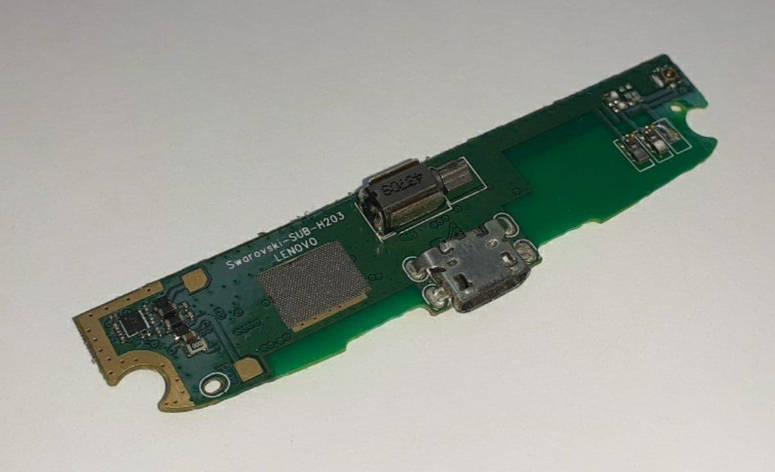 Субплата с разъемом зарядки Lenovo S820 оригинал б.у, фото 2