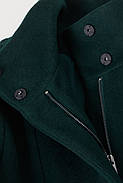 Пальто шерстяное HM 38 темно-зеленый 6617940wt, фото 2