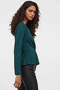 Блуза HM M изумрудно-зеленый 8008070RP4, фото 2