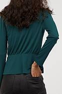Блуза HM M изумрудно-зеленый 8008070RP4, фото 3