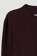 Джемпер HM S темно-сливовый 6369388wt, фото 2