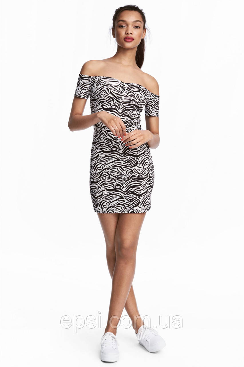 Платье HM 32 черно-белый зебра PS5021685RP4