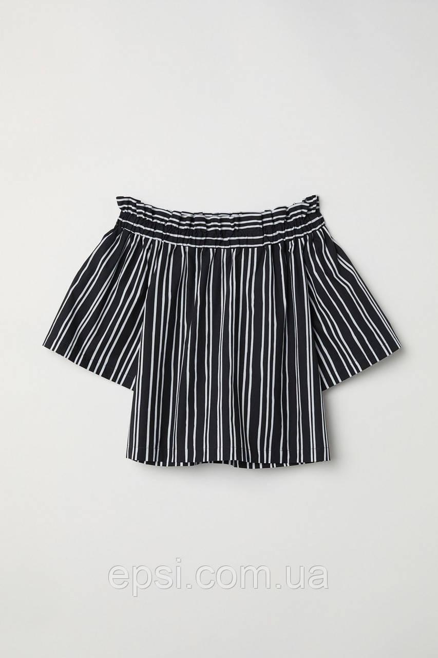 Блуза HM 36 черный белая полоска 6220437RP2