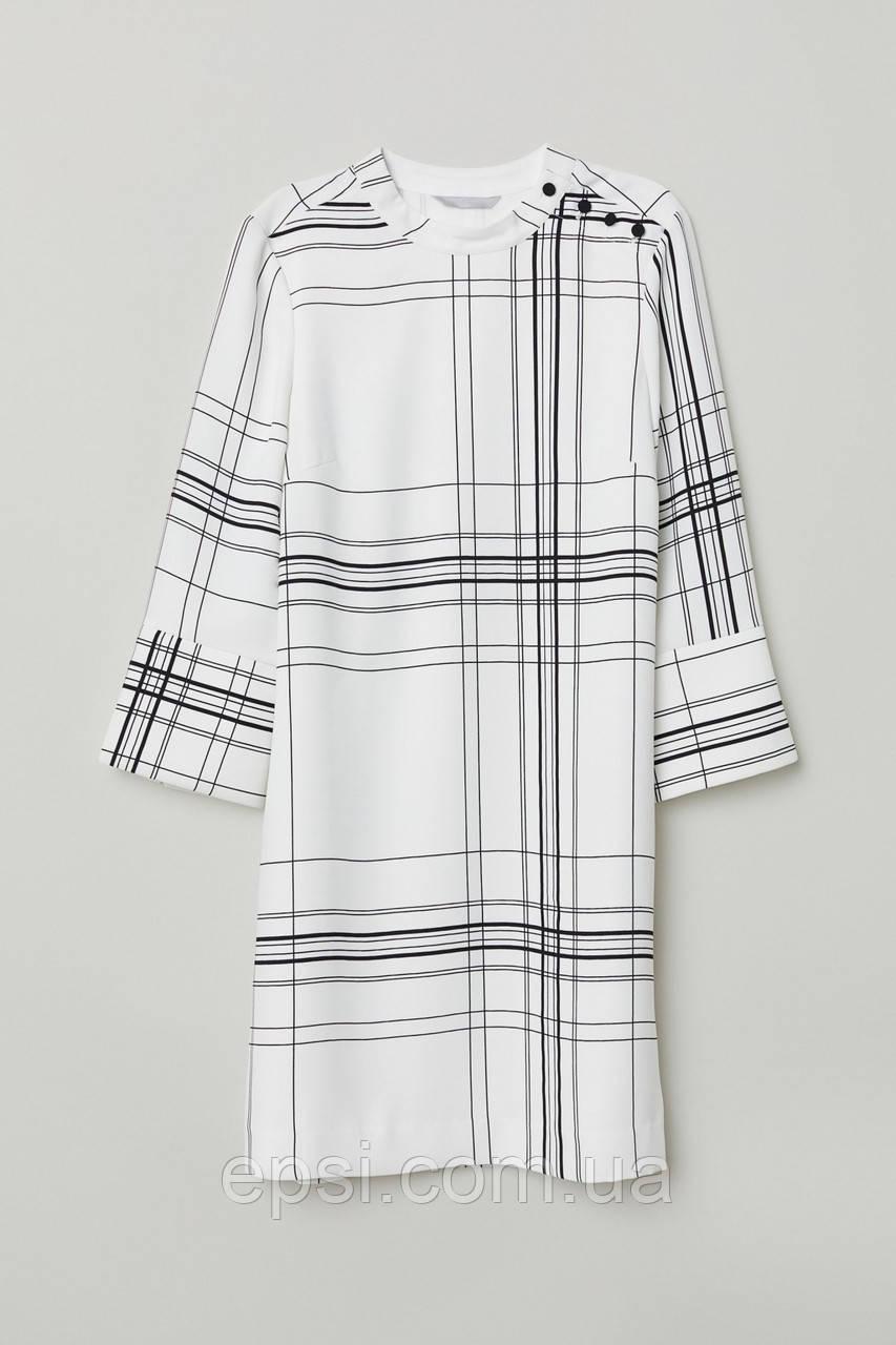 Платье HM 32 белый в клетку 2-6257738