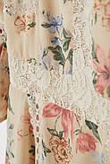 Платье с кружевом HM 36 кремовый цветы 6595638RP5, фото 2