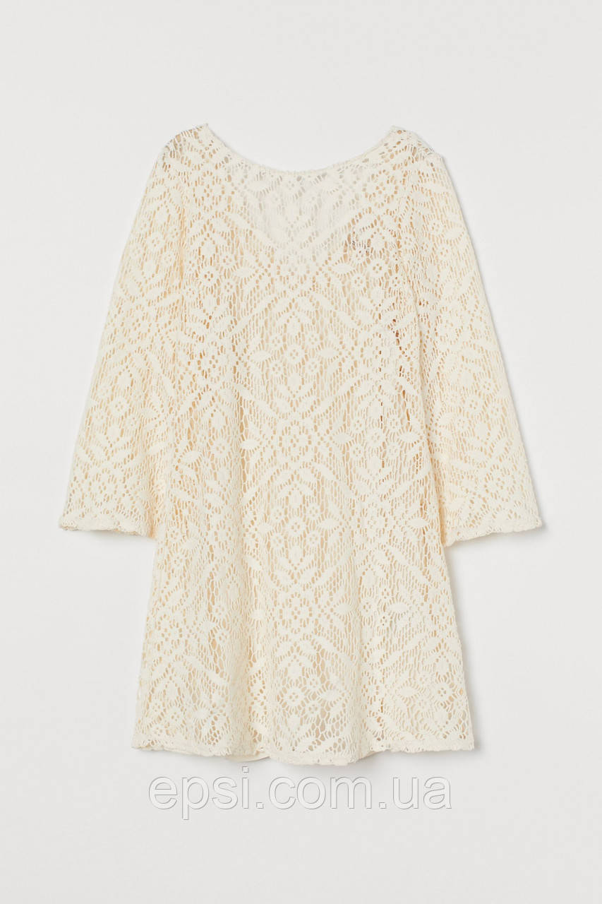 Платье ажурное HM XXS кремовый 799997RP5