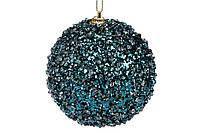 Елочный шар 8см, цвет - индиго с покрытием лед (16шт)