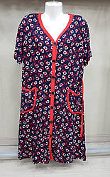 Женский  халат с коротким рукавом 48-56 размеры
